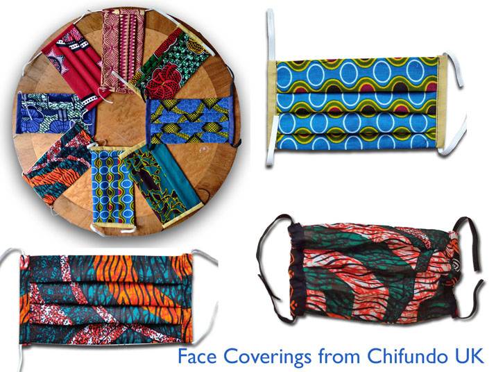Fabric face coverings from Chifundo UK
