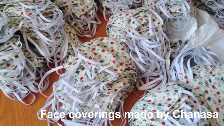Face coverings made by Chanasa