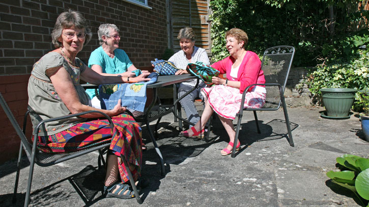 The Sewing Group on a sunny day in Chester